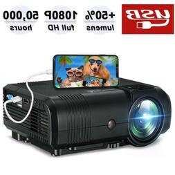 Mini Projector, Weton 2500Lumen Portable Video Projector 720