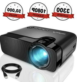 Mini Projector, ELEPHAS 3300 Lumens Portable Home Theater Vi