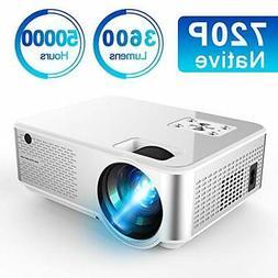 Mini Projector 3600 Lumens, Native 720P Full HD Ifmeyasi Por