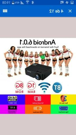 EXCELVAN MINI PROJECTOR 3600 Lumens  WIFI 1080P LED Home The