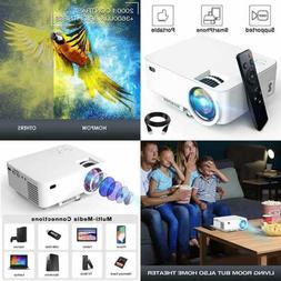 Mini Projector 3600Lux Smartphone Portable Video 1080P Suppo