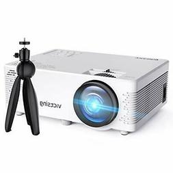 VicTsing Mini Projector, 3800 Lux Wireless Projector with Tr