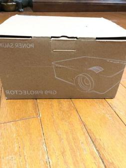 PONER SAUND Mini Projector, 50% Brighter LED Movie Projector