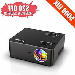 Mini Projector, WiMiUS 5000 Lumens Portable Video Projector,