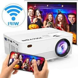 POYANK 2400Lumens LED Wireless Mini Projector, WiFi Project