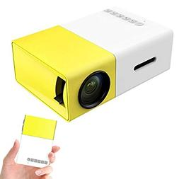 Mini Projector, YG300 Portable LED Projector Support PC Lapt
