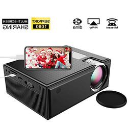 Mini Projector, iBosi Cheng Portable Full HD Video Projecto