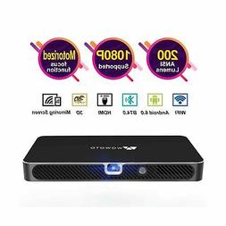 Mini Projector WOWOTO A8 Pro 200 ANSI Lumen Android 6.0 Supp