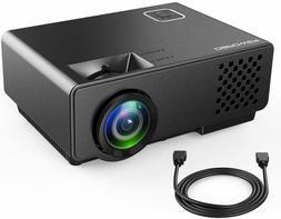 "Mini Projector - DBPOWER Video Projector Portable 176"" Displ"