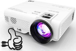 Mini Projector DR. J Professional 1080P Supported 4 Inch wit