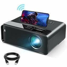 Mini Projector for iPhone ELEPHAS 2021 Upgrade WiFi Movie Pr