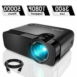 "ELEPHAS Mini Projector, Full HD 1080P and 180"" Display"