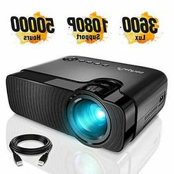 ELEPHAS Mini Portable Home Theater Projector Full HD 1080P 1