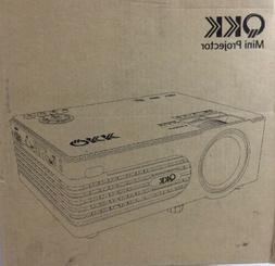 QKK Mini Projector -Full HD LED Projector 1080P - White 2400