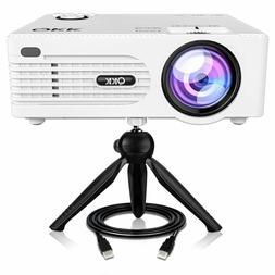 QKK Mini Projector -Full HD LED Projector 1080P Supported