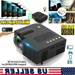 Mini Projector HD 1080P Portable Home Cinema LED Movie Video