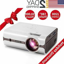 Crenova Mini Projector HDMI 1080P USB DVD PC Phone Game Vide
