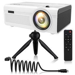 Mini Projector - Home Theater Projector QKK 2400Lumens for I