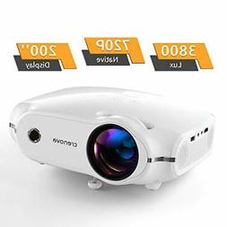 Crenova Mini Projector, Native 720P LED Video Projector,
