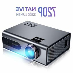 Mini Projector, Native 720P Portable Movie Projector with 32