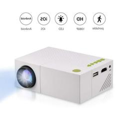 Fosa Mini Projector Portable 1080P LED for iPhone Android Sm