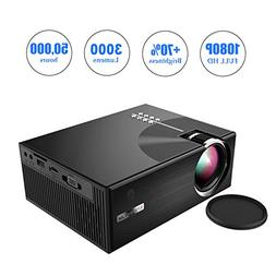 OKEUS 3000 Lumens Mini Projector 1080P Portable LED Projecto