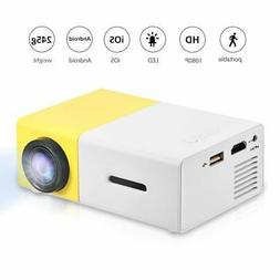Fosa Mini Projector Portable 1080P LED Projector Home Cinema