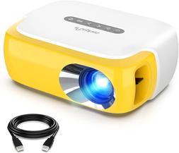 Mini Projector, ELEPHAS Portable LED Full Color Video Projec