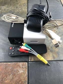 DeepLee Mini Projector Portable LED Projector Remote, Lightn