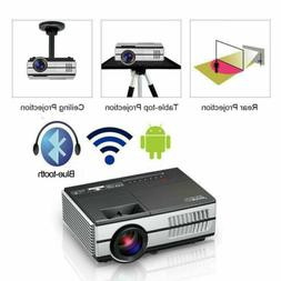 Mini Projector Portable WIFI HD 1080P Blue-tooth Video HDMI