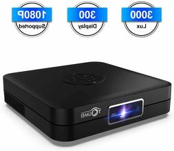 Mini Projector Projector DLP Android System 7.1 3000 Lumens