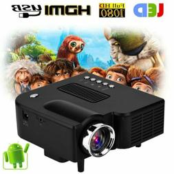 Mini Projector,UC28+ 1080p Portable LED Projector Support US