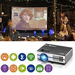 Mini Projector WiFi Bluetooth Portable LCD Video Projector 1