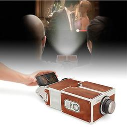Mini Smart Phone Projector DIY Cardboard Home Theater Cinema