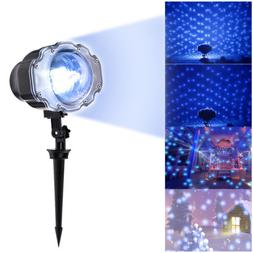 Mini Snowfall Projector Moving Snow Outdoor Lamp Snowflake L