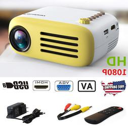 Mini TFT LED LCD HD 1080P Multimedia Projector TF AV USB HDM