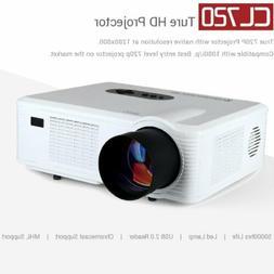 Mini True 3000Lumen LCD LED Projector Home Theater Cinema HD