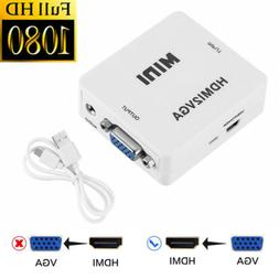 mini vga to hdmi converter audio 1080p