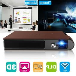 Mini WIFI 3D Projector Home Theater Movie DLP Wireless Mirro