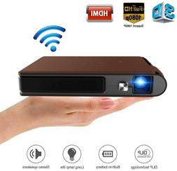 1080P WiFi 3D Projector Smart Mini Home Cinema Wireless Mirr