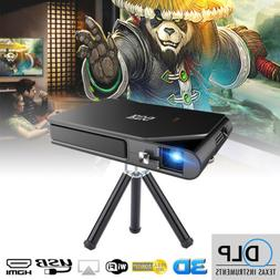 Portable Mini Pico DLP 3D Projector 1080P Full HD Movie Mira