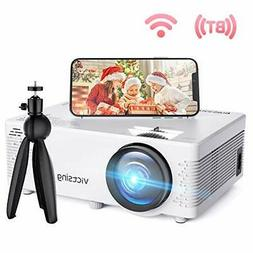 VicTsing Mini WiFi Projector-4200L Wireless Bluetooth Projec