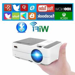 Mini WiFi Smart Projector Blue-tooth Wireless HD Android Hom