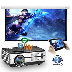 LED Mini Wireless Bluetooth HDMI Projector Portable Home The