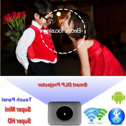 Multimedia 4K 1080P WiFi Android Bluetooth 3D DLP Mini Proje