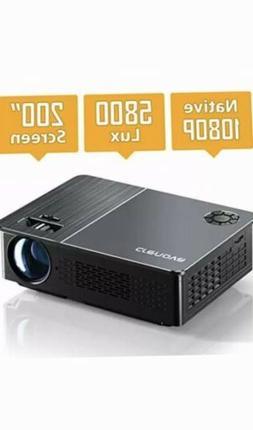 Native 1080P Projector, Crenova HD Video Projector, 5800 Lux