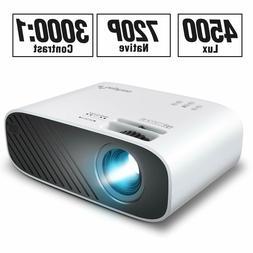 NEW ELEPHAS 2020 Mini Movie Projector, 4500 LUX Full HD 1080