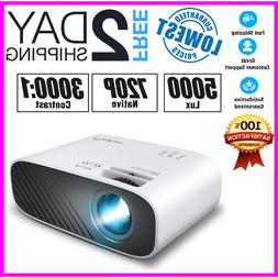 NEW ELEPHAS 2020 Mini Movie Projector, 5000 LUX Full HD 1080