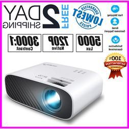 new 2020 mini movie projector 5000 lux