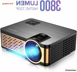NEW W5 Native Mini Movie Projector w/ HiFi Speaker, 3800 Lum